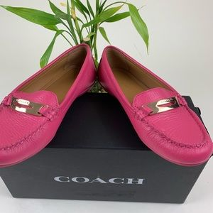COACH flat shoes- Bright Pink- Size 6.